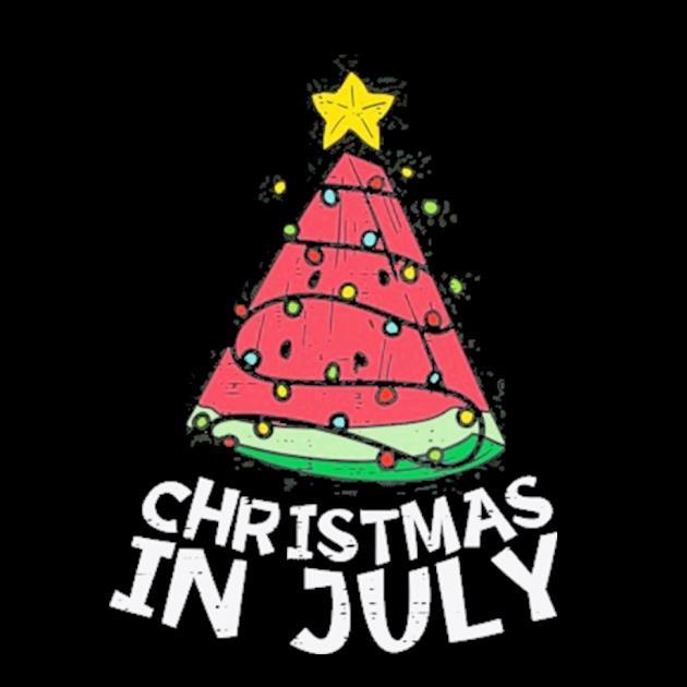 Christmas in july watermelon xmas tree summer men women kids preview