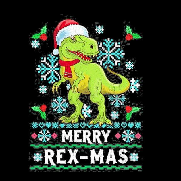 Merry rexmas christmas trex dinosaur ugly knit preview