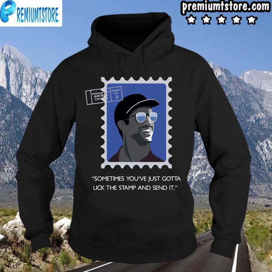 Daniel Ricciardo Sometimes You've Just Gotta Lick The Stamp And Send It Shirt hoodie-black